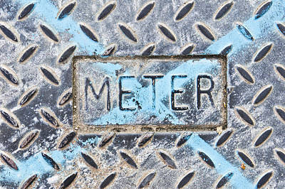 Metallic Sheets Photograph - Meter Cover by Tom Gowanlock