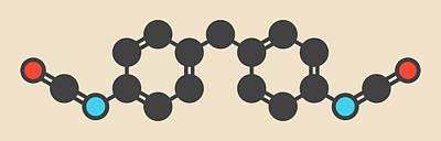 Polymer Photograph - Methylene Diphenyl Diisocyanate Molecule by Molekuul