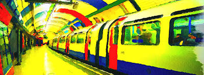 Sweden Digital Art - Metro Ride by Yury Malkov
