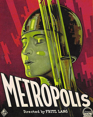Science Fiction Drawing - Metropolis Film Poster by German School