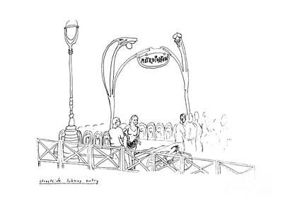 Old Friends Drawing - Metropolitan by Steven Tomadakis