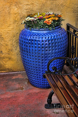 Tex-mex Photograph - Mexican Flower Pot by Lee Dos Santos