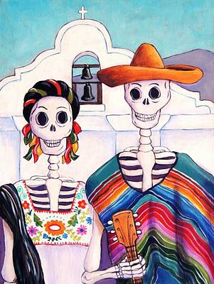 Poncho Painting - Mexican Gothic by Candy Mayer