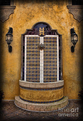 Tex-mex Photograph - Mexican Hacienda Fountain by Lee Dos Santos