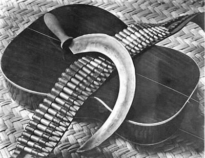 Mexican Revolution Guitar, Sickle Print by Tina Modotti