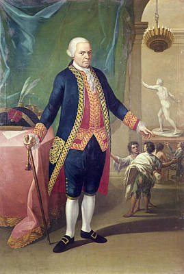 Statue Portrait Painting - Mexican Viceroy, C1800 by Granger