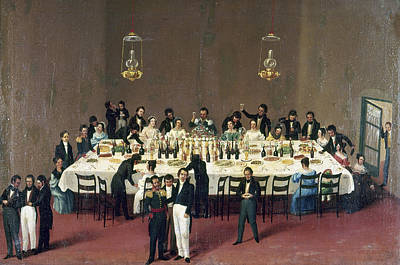 Mesoamerican Painting - Mexico Banquet, 1844 by Granger
