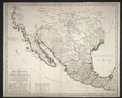 Cartography Photograph - Mexico by British Library