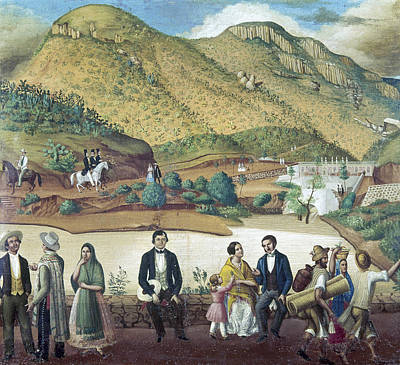 Upper Classes Painting - Mexico Guanajuato, C1850 by Granger