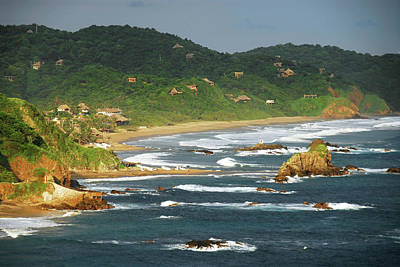 Mexicano Photograph - Mexico, Mazunte, Scenic View Of Sea by Anthony Asael