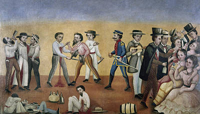 Mesoamerican Painting - Mexico Satire, C1850 by Granger