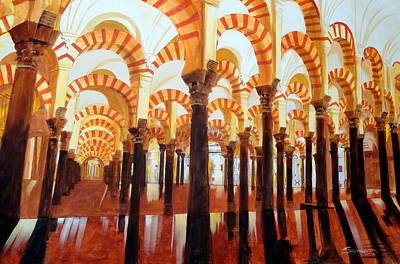 Mezquita De Cordoba Print by Darrell Sheppard