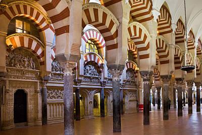 Relief Carving Photograph - Mezquita Prayer Hall In Cordoba by Artur Bogacki