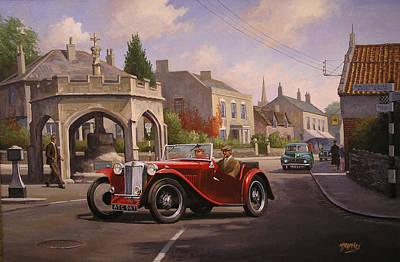 Mg Tc Sports Car Original by Mike  Jeffries