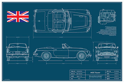 Mgc Tourer Blueplanprint Original by Douglas Switzer