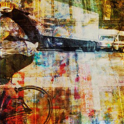 Bike Drawing - Mgl - City Collage - New York 06 by Joost Hogervorst