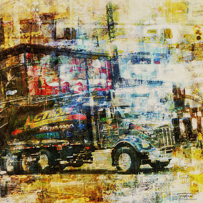 Broadway Drawing - Mgl - City Collage - New York 10 by Joost Hogervorst