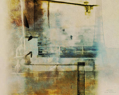 Notre Dame Drawing - Mgl - City Collage - Paris 05 by Joost Hogervorst