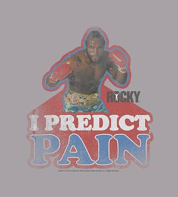 Boxer Digital Art - Mgm - Rocky - I Predict Pain by Brand A