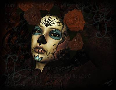 Angel Mermaids Ocean Digital Art - Mi Amor Mi Vida by Georgina Hannay