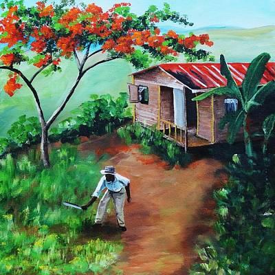 Mi Flamboyan Print by Migdalia Bahamundi