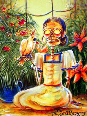 Mi Pajaro Blanco Original by Heather Calderon