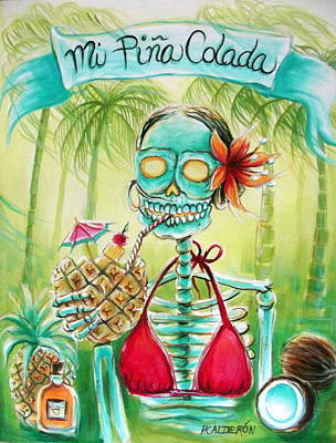 Mi Pina Colada Print by Heather Calderon