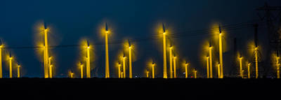 Palm Springs Photograph - Mi3 Wind Turbines 1 by Scott Campbell