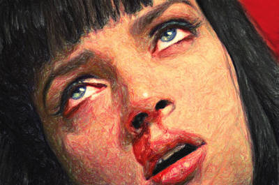 Cocaine Painting - Mia Wallace by Taylan Soyturk