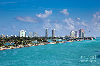 Miami Beach Skyline Print by Rene Triay Photography