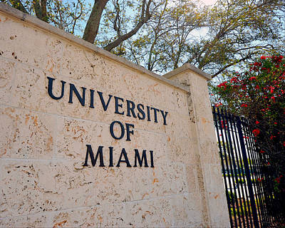 Miami Campus Sign In Spring Print by Replay Photos