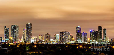 American Airlines Arena Photograph - Miami Downtown Skyline Winter Sky by Rene Triay Photography
