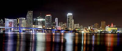 Miami Skyline Photograph - Miami - Florida  by Brendan Reals