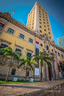 Liberty Building Photograph - Miami Freedom Tower 1 - Miami - Florida by Ian Monk