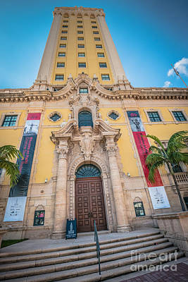 Liberty Building Photograph - Miami Freedom Tower 2 - Miami - Florida by Ian Monk