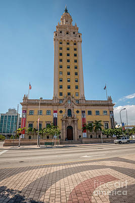 Liberty Building Photograph - Miami Freedom Tower 3 - Miami - Florida by Ian Monk
