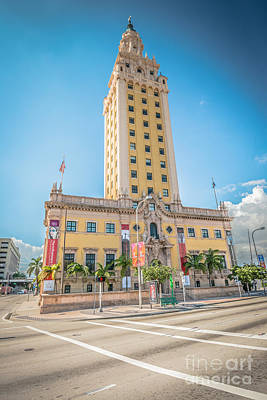 Liberty Building Photograph - Miami Freedom Tower 4 - Miami - Florida by Ian Monk