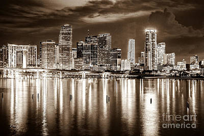 American Airlines Arena Photograph - Miami Reflections by Rene Triay Photography