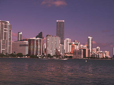 Abstrat Photograph - Miami Skyline Abstract IIi by Christiane Schulze Art And Photography