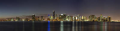 Key Biscayne Photograph - Miami Skyline by Andres Leon