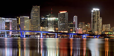 Miami Skyline Photograph - Miami Skyline by Brendan Reals
