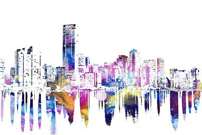 Miami Skyline Mixed Media - Miami Skyline by Doc Braham
