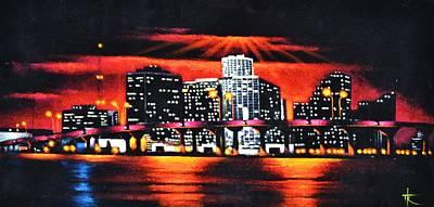 Miami Skyline Original by Thomas Kolendra