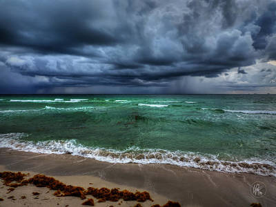 Nature Photograph - Miami - South Beach Storm 001 by Lance Vaughn