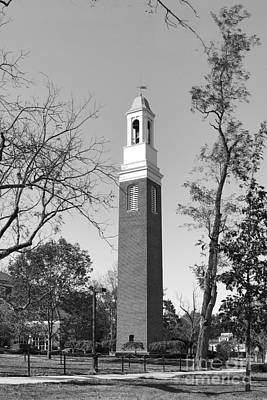 Miami University Beta Bell Tower Print by University Icons