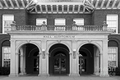 Miami University Hall Auditorium Print by University Icons