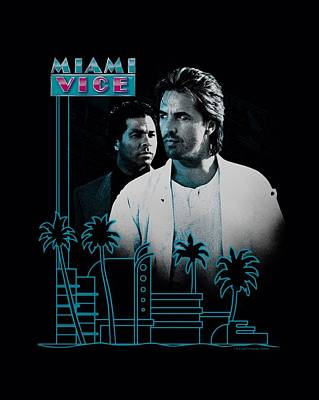 Noir Digital Art - Miami Vice - Looking Out by Brand A