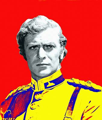 Drama Mixed Media - Michael Caine In Zulu by Art Cinema Gallery