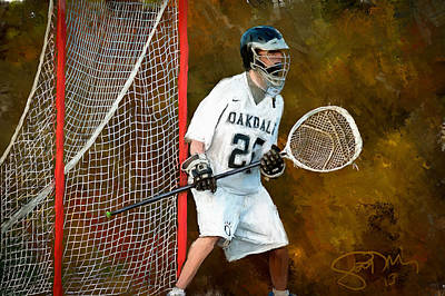 Scott Melby Painting - Michael In Goal by Scott Melby