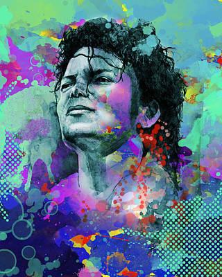 Michael Jackson Digital Art - Michael Jackson 12 by Bekim Art